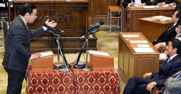 写真:志位委員長と安倍総理の党首討論 出典:sankei.com