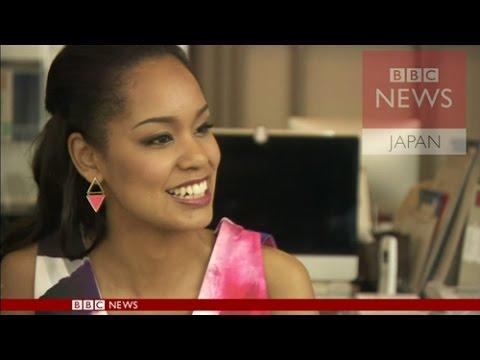 写真(宮本エリアナさん) 出典:YouTube【BBC】「日本人」とは?ミス・ユニバース日本代表の問題提起