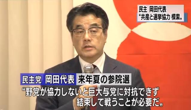 写真(民主党の岡田代表)