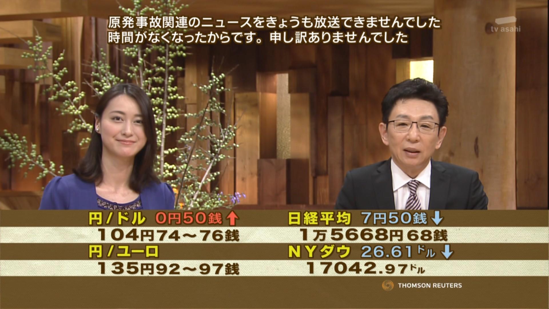 写真(原発事故ニュースを流せないニュースステーション) 出典:テレビ朝日