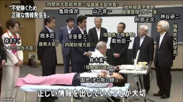 写真(嘘八百で日本国民を被ばくさせている人々) 出典:みんなでスピリチュアル