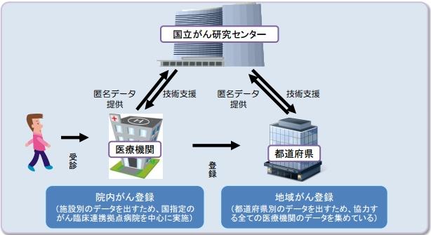 図(がん登録法案のシステム) 出典:厚生労働省