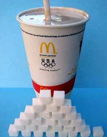 写真(マックシェイクに含まれる砂糖の量) 出典:天下泰平
