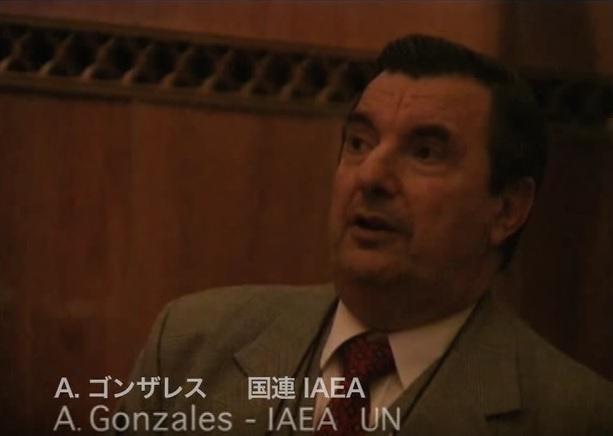 写真(IAEA官僚のゴンザレス氏) 出典:YouTube「真実はどこに?―WHOとIAEA 放射能汚染を巡って」