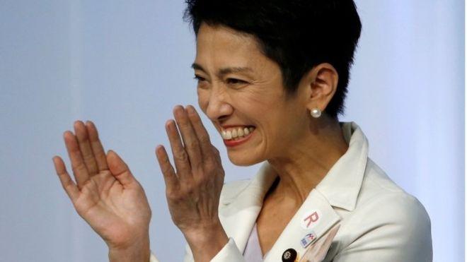 写真(民進党の代表に選ばれた蓮舫氏)
