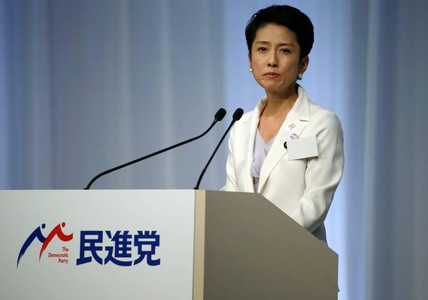 写真(民進党の新代表に就任した蓮舫氏) 出典:ロイター